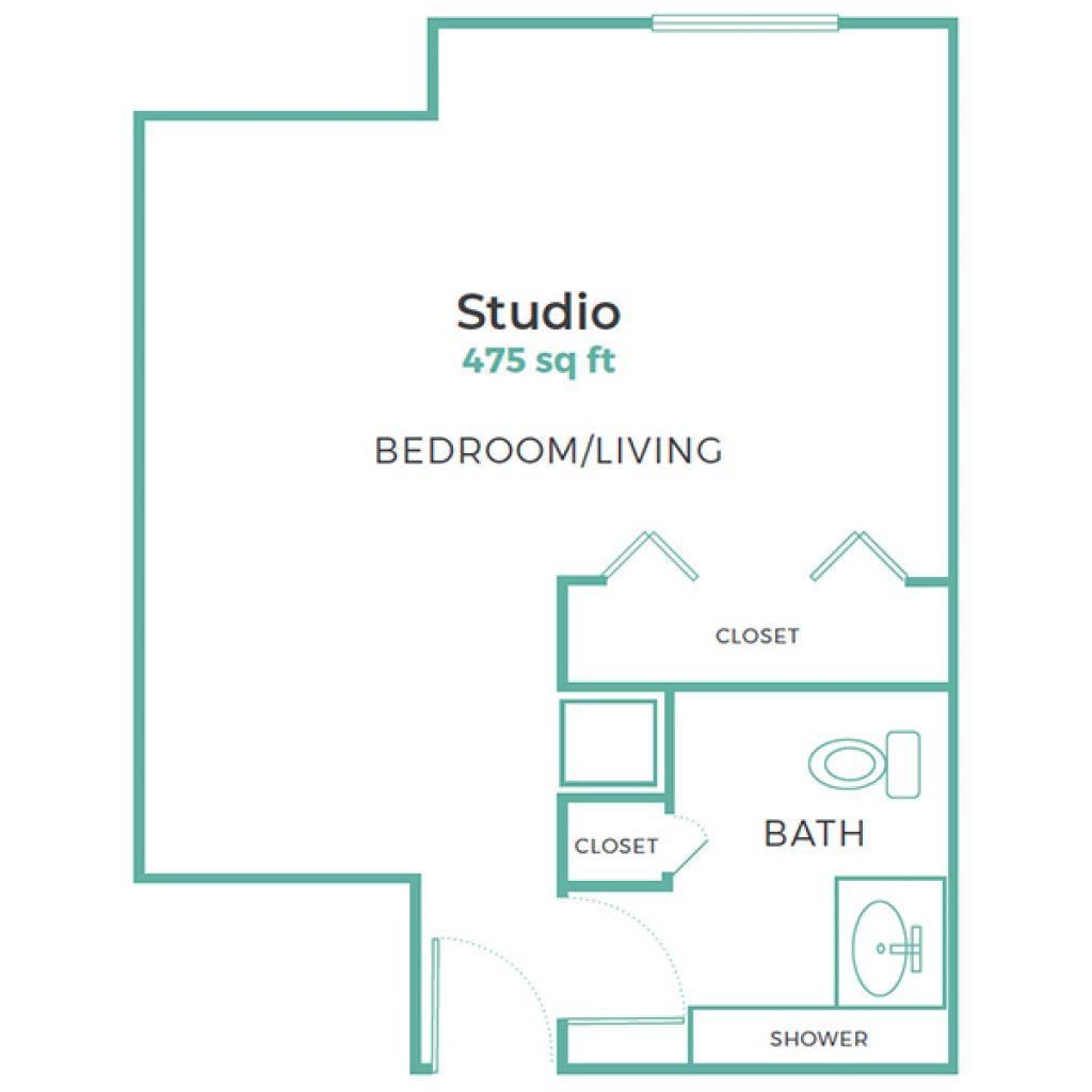 Cadence Aurora Studio 475 sq ft