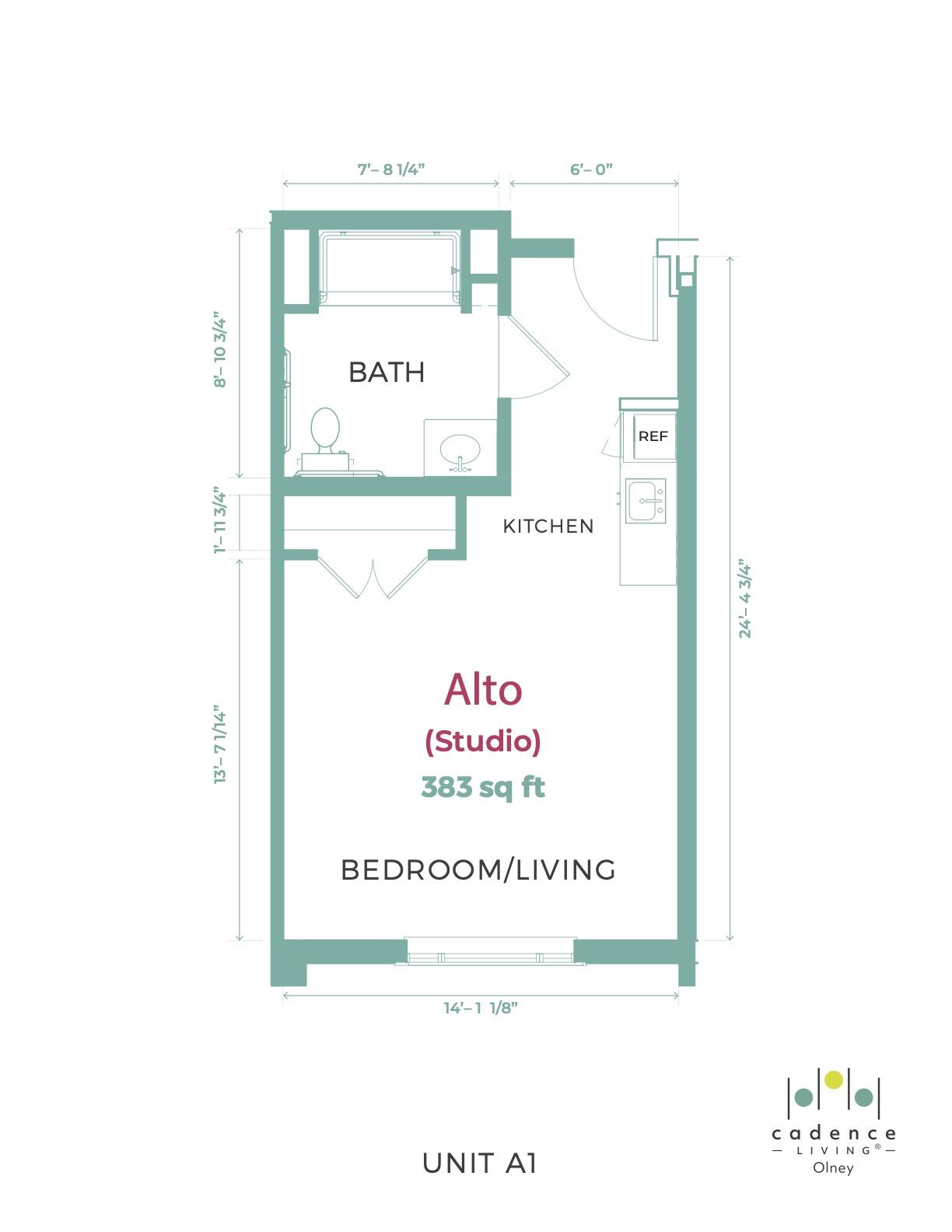 Olney Alto Studio Floor Plan