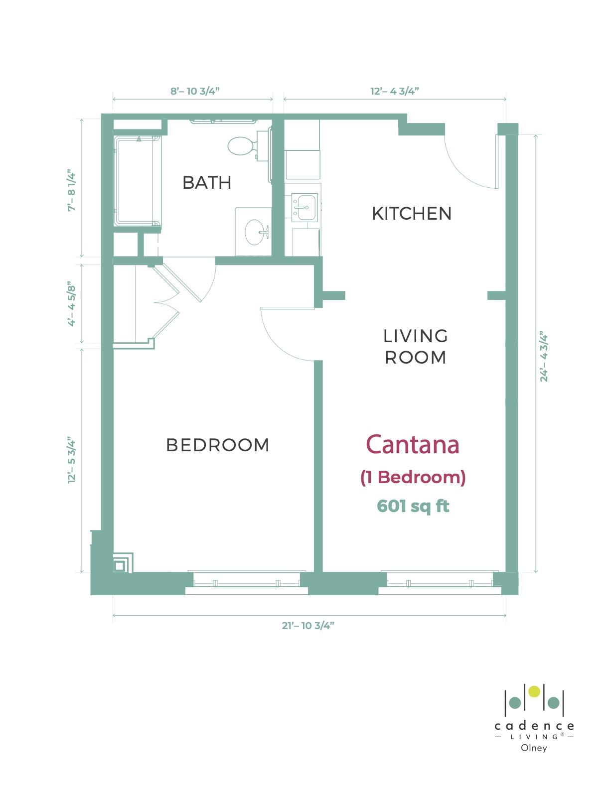Olney Cantana one bedroom Floor Plant