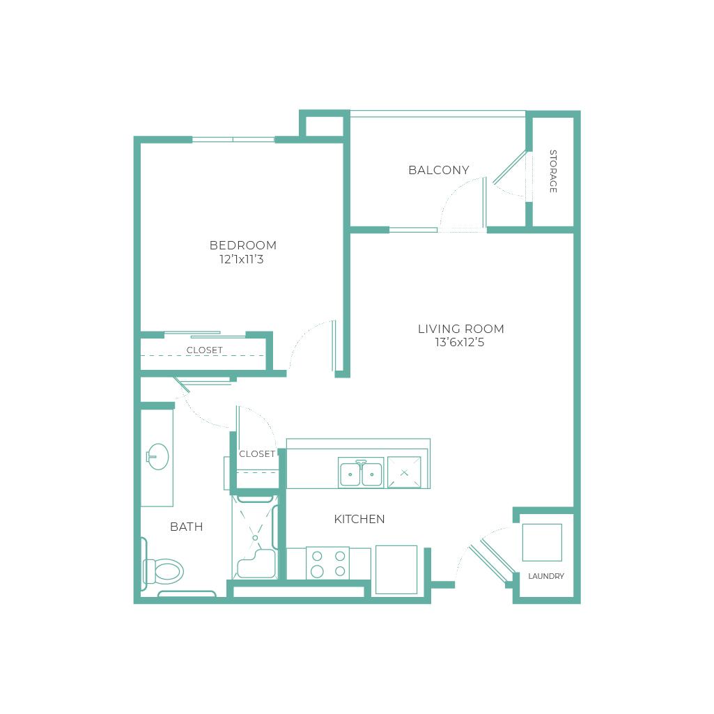 Cadence Chandler Campana 1 Bedroom 689 sq ft